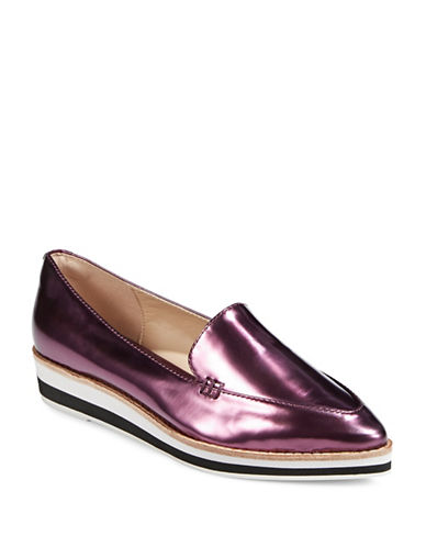 Dkny Seaport Leather Slip-On Sneakers-BORDEAUX-7.5