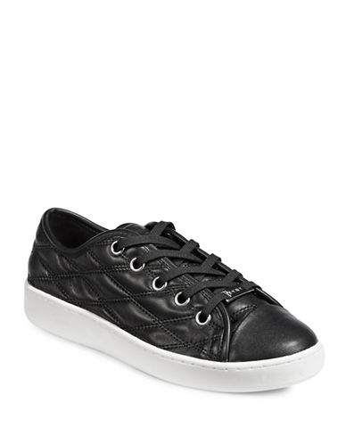 Dkny Logo Lace-Up Sneakers-BLACK-8.5
