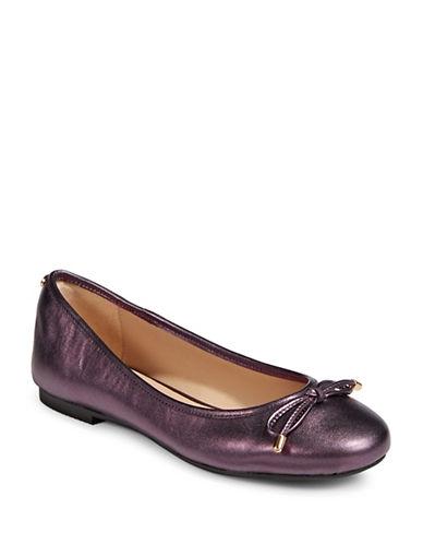 Dkny Bow Detail Ballet Flats-BORDEAUX-5