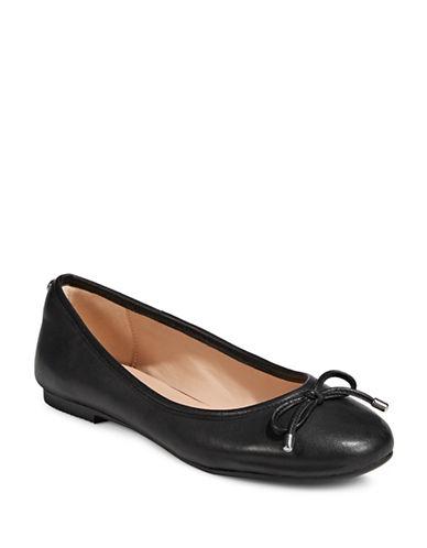 Dkny Bow Detail Ballet Flats-BLACK-7