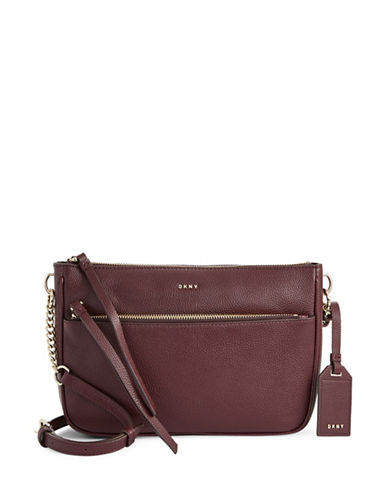 Dkny Cordova Leather Crossbody Bag-RED-One Size