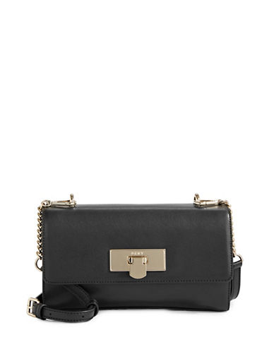 Dkny Small Flap Buckle Crossbody Bag-BLACK-One Size