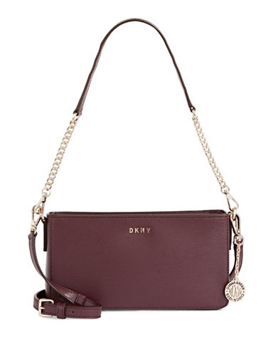 Dkny Convertible Leather Bag-CORDOVAN-One Size