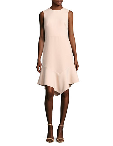 Dkny Sleeveless Fitted Dress With Flounce Hem-BLUSH-2