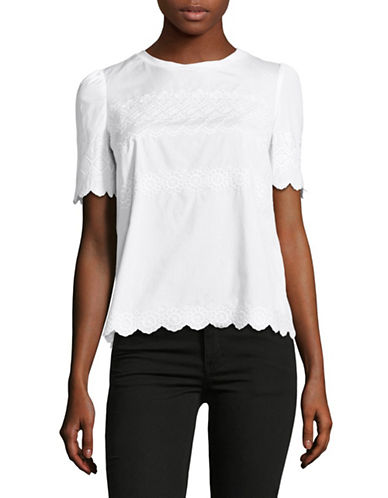 Weekend Max Mara Ondine Embroidered Combo Top-WHITE-X-Large 89044556_WHITE_X-Large