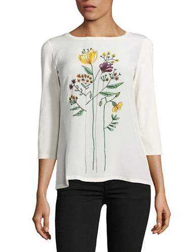 Weekend Max Mara Alfonsa Silk Front Top-WHITE-X-Small