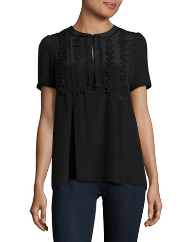 Weekend Max Mara Landa Silk-Combo Top-BLACK-Small 89044558_BLACK_Small