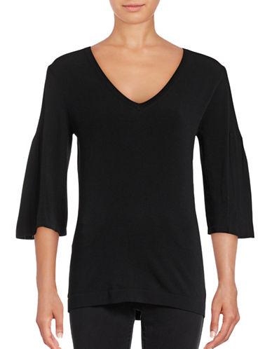 Weekend Max Mara Starna Bell Sleeve Sweater-BLACK-X-Small