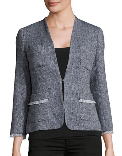 Weekend Max Mara Ubicato Herringbone Jacket-BLUE-EUR 40/US 6
