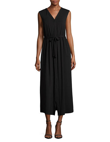 Weekend Max Mara Sabato Self-Tie Stretch Knit Dress-BLACK-XX-Large