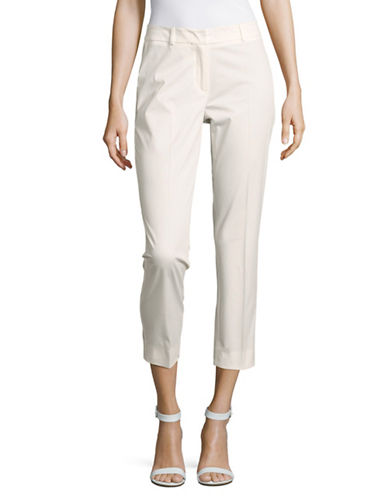 Weekend Max Mara Cleo Cropped Cigarette Pants-WHITE-EUR 42/US 8