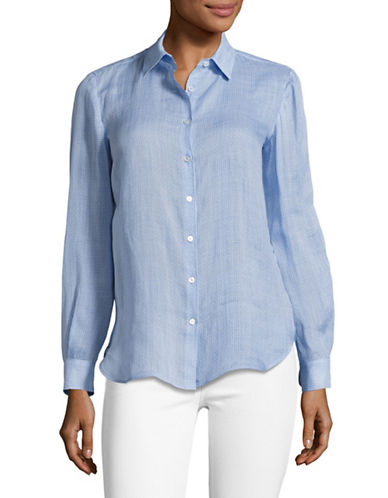 Weekend Max Mara Narsete Blouse-BLUE-EUR 38/US 4