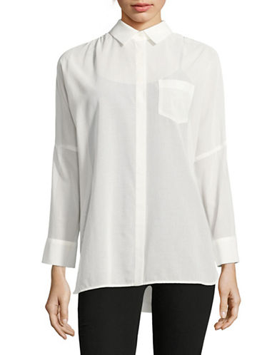 Weekend Max Mara Lazio Sheer Dolman Shirt-WHITE-EUR 42/US 8