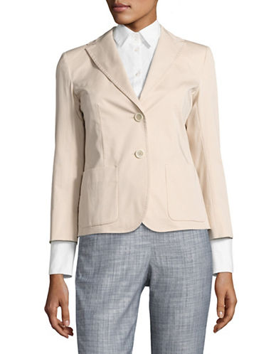 Weekend Max Mara Teresa Long Sleeve Jacket with Pockets-SAND-EUR 40/US 6