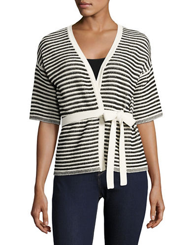 Weekend Max Mara Fosco Striped Sweater-BLACK-Large