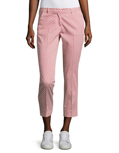 Weekend Max Mara Extra Slim Cigarette Stretch Pants-RED-EUR 46/US 12