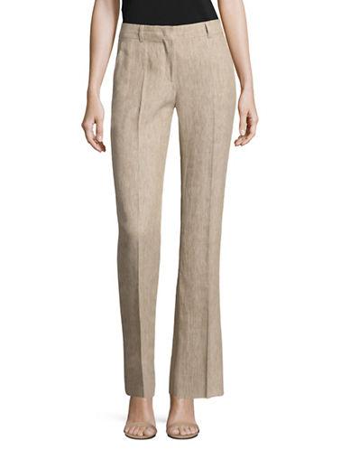 Max Mara Studio Bozen Ramie-Linen Pants-COLONIAL-EUR 48/US 14