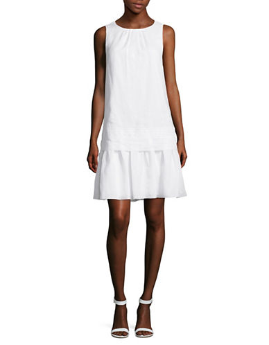Max Mara Studio Gaia Drop-Waist A-Line Dress-NATURAL-EUR 44/US 10