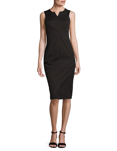 Max Mara Studio Baleari Sheath Dress-BLACK-EUR 46/US 12