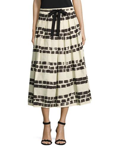Max Mara Studio Giotto Striped Skirt-IVORY MULTI-EUR 42/US 8