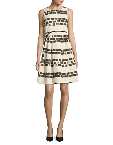 Max Mara Studio Enea Pleated A-line Dress-IVORY-EUR 44/US 10