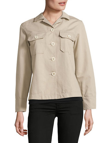 Weekend Max Mara Tamaro Cargo Jacket-BROWN-EUR 38/US 4