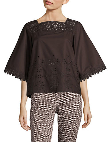 Weekend Max Mara Catone Blouse-BROWN-EUR 38/US 4