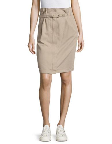 Weekend Max Mara Fiorito High Waist Skirt with Belt-BROWN-EUR 44/US 10