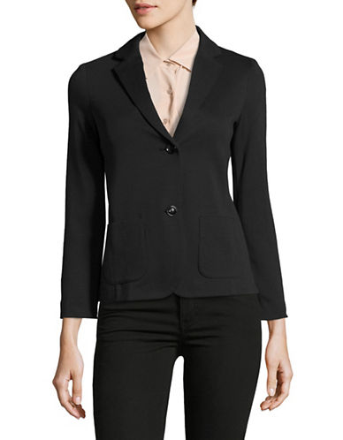 Weekend Max Mara Oceano Patch Pocket Jacket-BLACK-Large 89044550_BLACK_Large