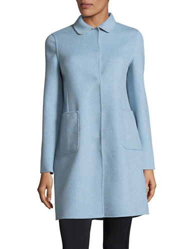 Weekend Max Mara Stecca Reversible Wool-Blend Coat-BLUE-EUR 44/US 10