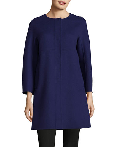 Weekend Max Mara Ozieri Wool-Blend Coat-BLUE-EUR 50/US 16