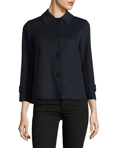 Weekend Max Mara Tubo Wool-Blend Jacket-ULTRAMARINE-EUR 36/US 2