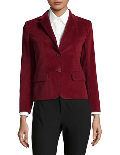 Weekend Max Mara Marus Corduroy Blazer-RED-EUR 38/US 4