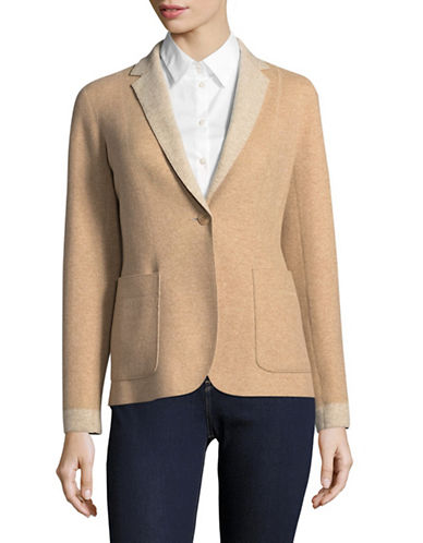 Weekend Max Mara Favilla Virgin Wool Blazer-BEIGE-EUR 48/US 14