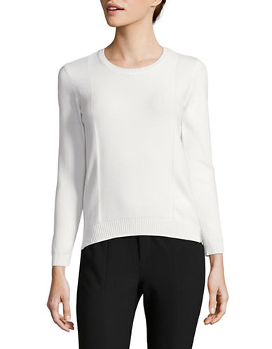 Weekend Max Mara Crew Neck Sweater-WHITE-X-Large