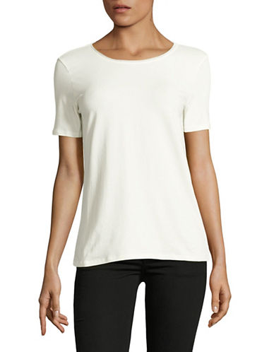Weekend Max Mara Multid Jersey Top-WHITE-XX-Large