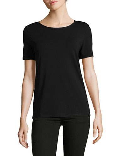 Weekend Max Mara Multid Jersey Top-BLACK-Small