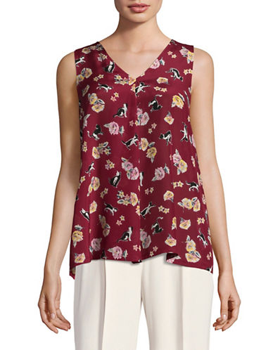 Weekend Max Mara Bruno Sleeveless Blouse-RED-XX-Large