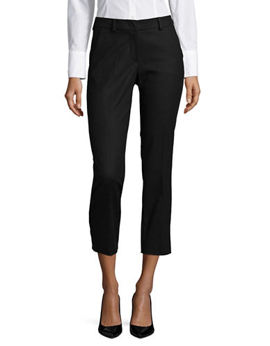 Weekend Max Mara Fauno Slim Cigarette Trousers-BLACK-EUR 48/US 14