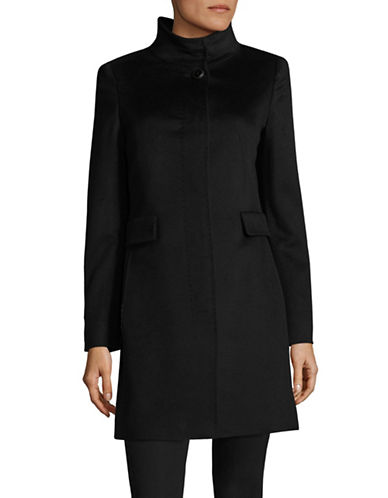 Max Mara Studio Agnese Short Coat-BLACK-EUR 36/US 2