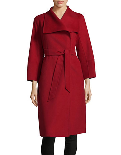Max Mara Studio Cremona Wool-Blend Self-Tie Coat-RED-EUR 36/US 2