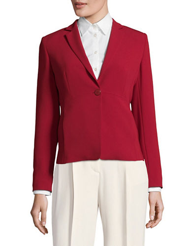 Max Mara Studio Solista Structured Jacket-RED-EUR 40/US 6