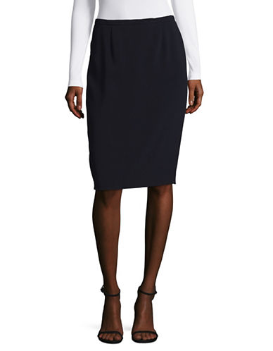 Max Mara Studio Rima Pencil Skirt-NAVY-EUR 36/US 2