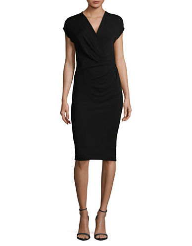 Max Mara Studio Marte Bodycon Dress-BLACK-Small