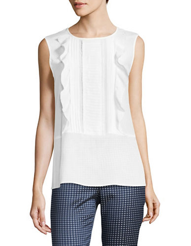 Max Mara Studio Diletta Silk Top-MILK-EUR 38/US 4
