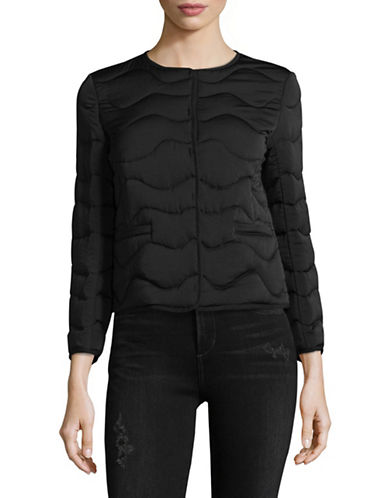 Weekend Max Mara Quilted Jacket-BLACK-EUR 48/US 14