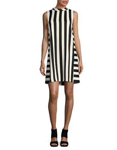 Marella Berlino Stripe Dress-BLACK-8