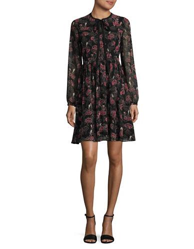 Marella Rialto Floral Dress-BLACK-10
