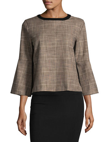 Marella Reus Bell Sleeve Top-BROWN-6