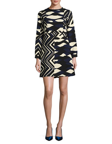 Marella Odeon Geometric Print Sheath Dress-BLACK-4